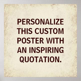 Cita de encargo de la tipografía, poster inspirado