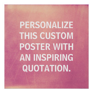 Cita de encargo, personalizada, rosa del poster póster