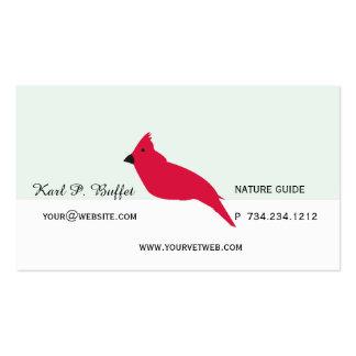 Cita de encargo veterinaria dichosa roja de Birdy Tarjetas De Visita