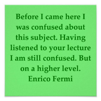 cita de Enrique fermi Posters