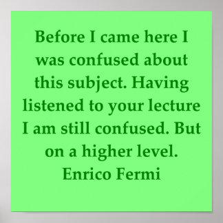 cita de Enrique fermi Póster