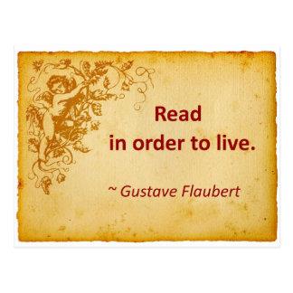Cita de Flaubert en la lectura Postales