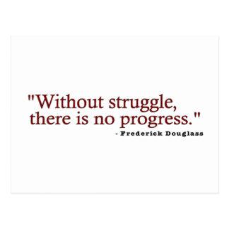 Cita de Frederick Douglas Postal