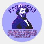 Cita de Frederick Douglass: Los límites de tiranos Pegatina Redonda