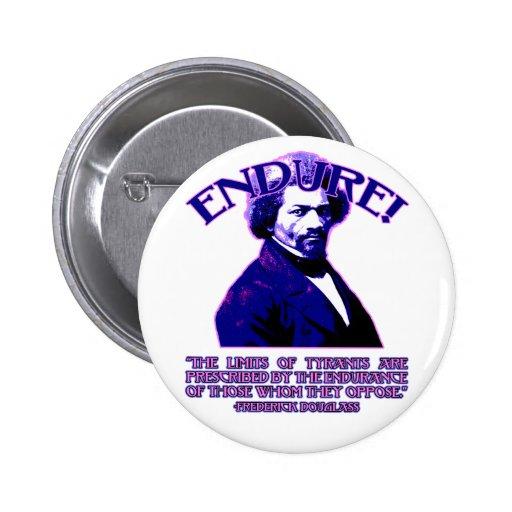 Cita de Frederick Douglass: Los límites de tiranos Pin