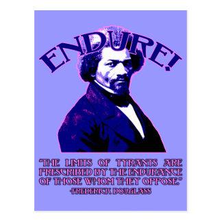 Cita de Frederick Douglass: Los límites de tiranos Tarjetas Postales