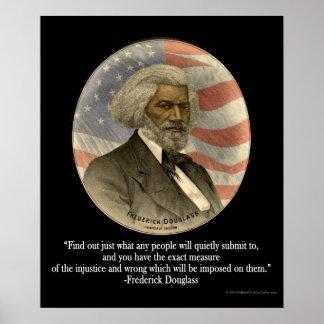Cita de Frederick Douglass, poster de la impresión