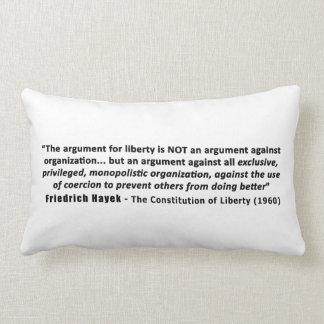 Cita de Friedrich Hayek la discusión para la liber