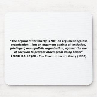 Cita de Friedrich Hayek la discusión para la Tapetes De Ratón