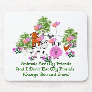 Cita de G.B. Shaw Vegetarian Mousepads