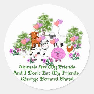 Cita de G B Shaw Vegetarian Pegatina