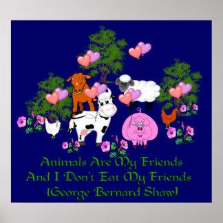 Cita de G.B. Shaw Vegetarian Póster