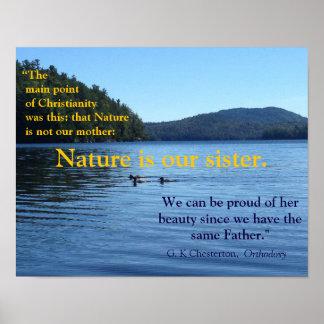 Cita de G.K. Chesterton sobre el poster de la