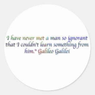 Cita de Galileo Galilei Pegatina