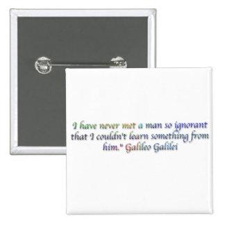 Cita de Galileo Galilei Pins