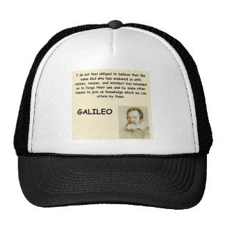 cita de galileo gorras