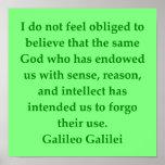 Cita de Galileo Impresiones