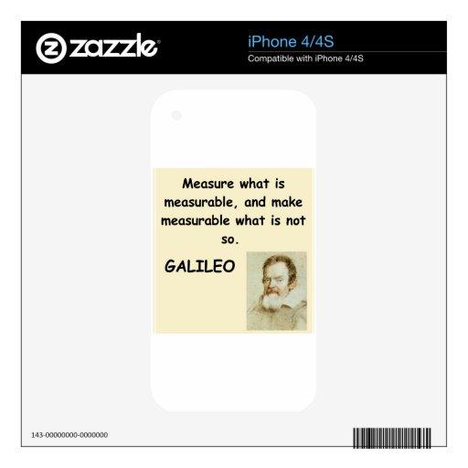 cita de galileo iPhone 4S calcomanías