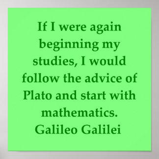 Cita de Galileo Poster
