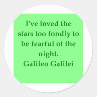 Cita de Galileo Pegatina Redonda