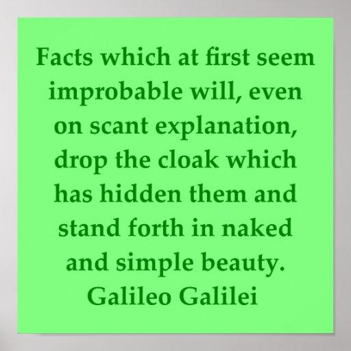 Cita de Galileo Póster