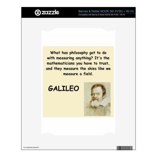 cita de galileo skins para elNOOK