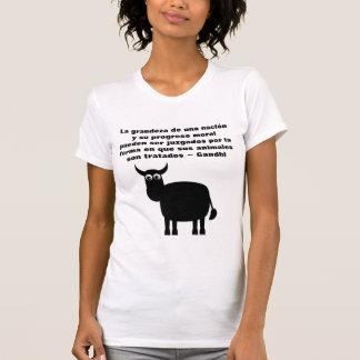 Cita de Gandhi de los derechos de los animales en  Camiseta