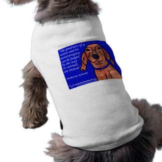 Cita de Gandhi en el bienestar animal Ropa Perro
