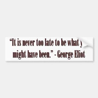 Cita de George Eliot Pegatina Para Auto