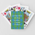 Cita de George Herberto con diseño maravilloso Baraja Cartas De Poker