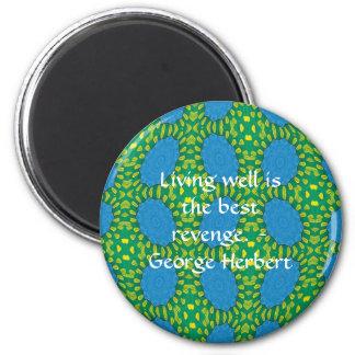 Cita de George Herberto con diseño maravilloso Imán Redondo 5 Cm
