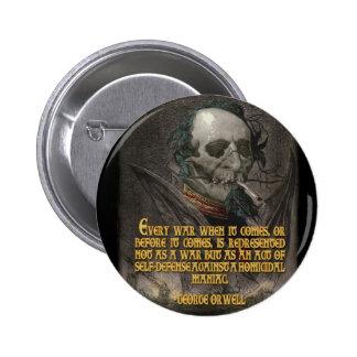 Cita de George Orwell en propaganda del tiempo de Pins