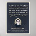 Cita de George W. Veditz. Un cartel de la sala de Póster