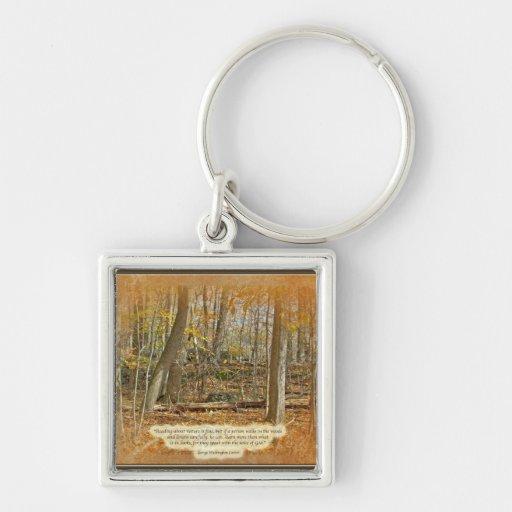 Cita de George Washington Carver del bosque del ot Llaveros Personalizados