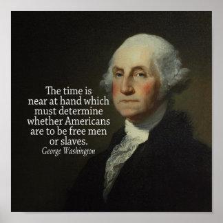 Cita de George Washington en esclavitud Póster