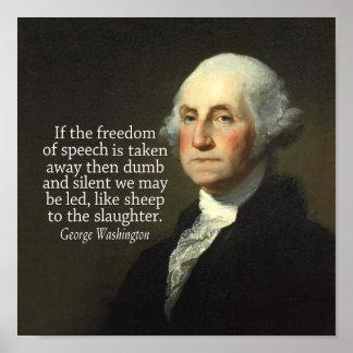 Cita de George Washington en la libertad de expres Posters