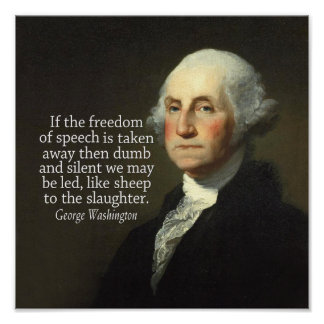 Cita de George Washington en la libertad de Póster