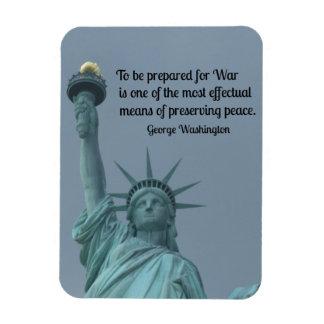 Cita de George Washington sobre paz y guerra Imán De Vinilo