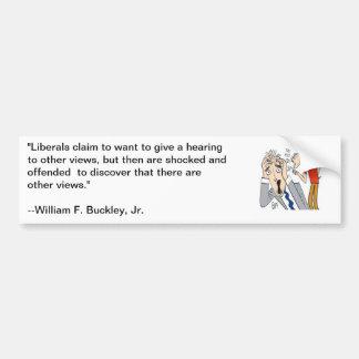 Cita de Guillermo F Buckley sobre liberales Etiqueta De Parachoque