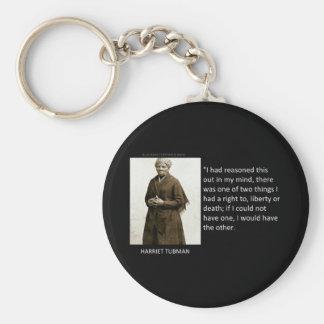 Cita de Harriet Tubman Llavero Redondo Tipo Pin