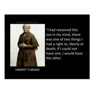 Cita de Harriet Tubman Postales