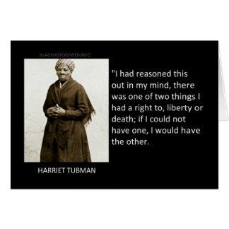 Cita de Harriet Tubman Tarjetón
