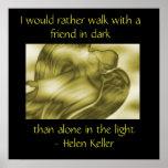 Cita de Helen Keller - poster del ángel