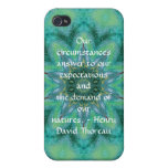 Cita de Henry David Thoreau con diseño primitivo iPhone 4/4S Funda