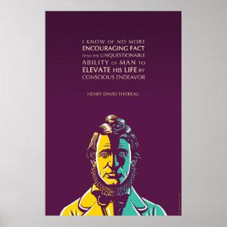 Cita de Henry David Thoreau: Esfuerzo consciente Póster