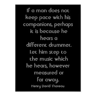 Cita de Henry David Thoreau - impresión del arte Póster