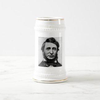 Cita de Henry David Thoreau Jarra De Cerveza