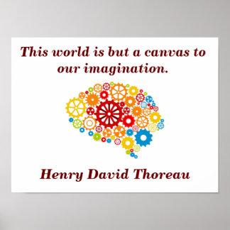 Cita de Henry David Thoreau - poster