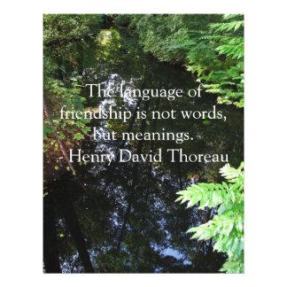 Cita de Henry David Thoreau sobre AMISTAD Tarjetas Informativas