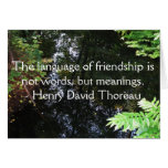 Cita de Henry David Thoreau sobre AMISTAD Felicitaciones